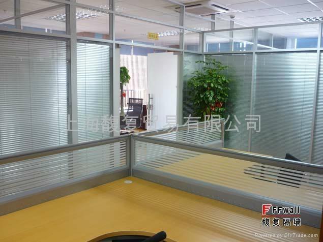 电动百叶玻璃隔墙 1