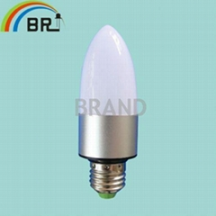 candle High power led bulb E27 tubes lighting 3w spotlighting