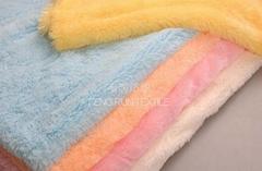 pv plush /faux fur/coral fleece