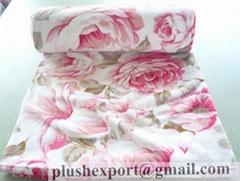 coral fleece blanket/throw
