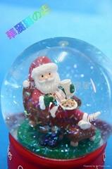 工艺品 树脂 装饰 圣诞老人cookies100mm水球