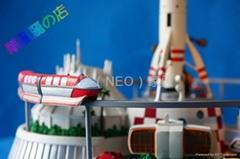 工艺品 POLY 树脂 家居 装饰 火箭发射台