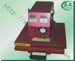 抽拉式气动单工位服装烫画印花加工机械