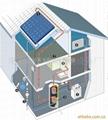 分体别墅式大容量太阳能热水系统