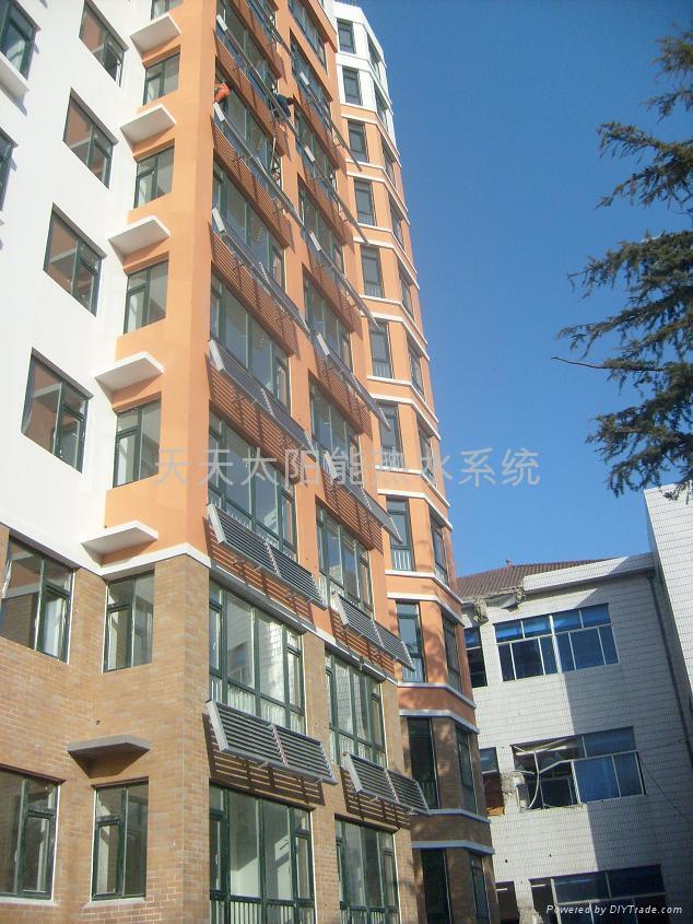 阳台壁挂平板太阳能热水器 1