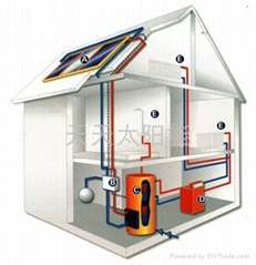 Split pressure solar hot water heater system