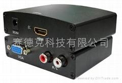 HDMI to VGA+R/L HDMI转换器功能