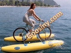 Inflatable boat-shuttle bike kit