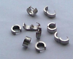 创美不锈钢男士耳环胚,不锈钢耳环