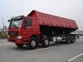 HOWO 6*4 side-dump semi-trailer