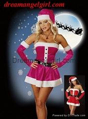 Sexy hot christmas lingerie fancy dresses