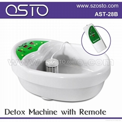 Detoxing machine with remote