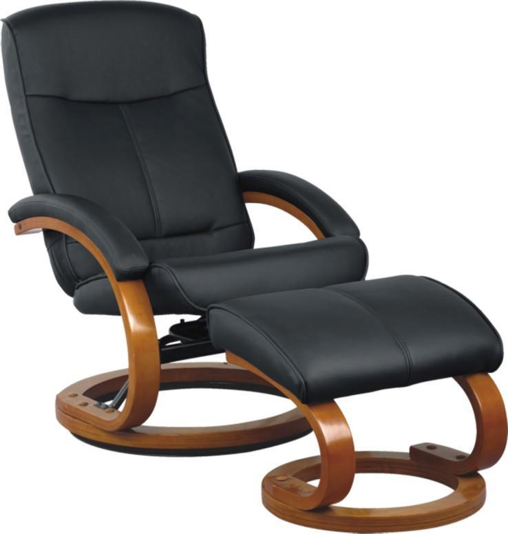 RECLINER RECLINER WITH OTTOMAN LEISURE CHAIR MASSAGE CHAIR EURO CHAIR  LEATHER ...