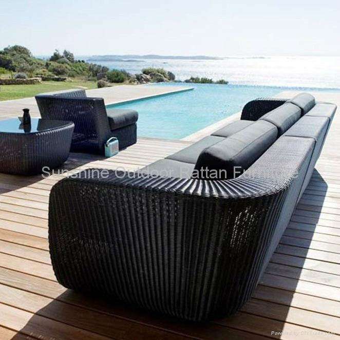 wicker lounge funiture garden sectional rattan sofa. Black Bedroom Furniture Sets. Home Design Ideas