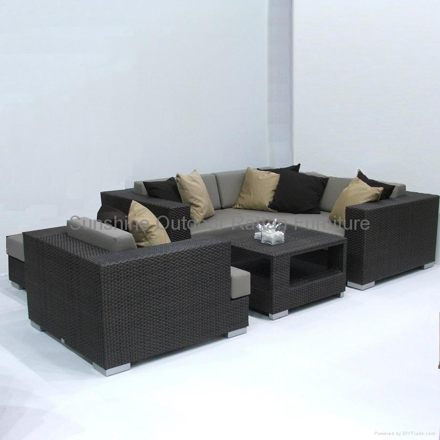 Superbe ... Woven Wicker Deep Seating Set   Terrace Outdoor Furniture 4 ...