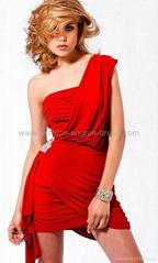 2012 new design single shoulder sexy evening/bridal dress short dress