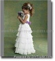 2011 new style pure white Angel flower girl dress 1