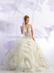 My lady bridal new design beads& embroidery wedding/bridal dress with fishtail