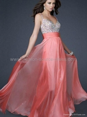 2012 Custom Made Top Quality Chiffon Beaded Sparkly Party Prom Evening Dress