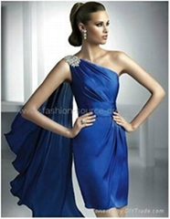 2012 new style elegant sapphire bridesmaid/evening/short social dress
