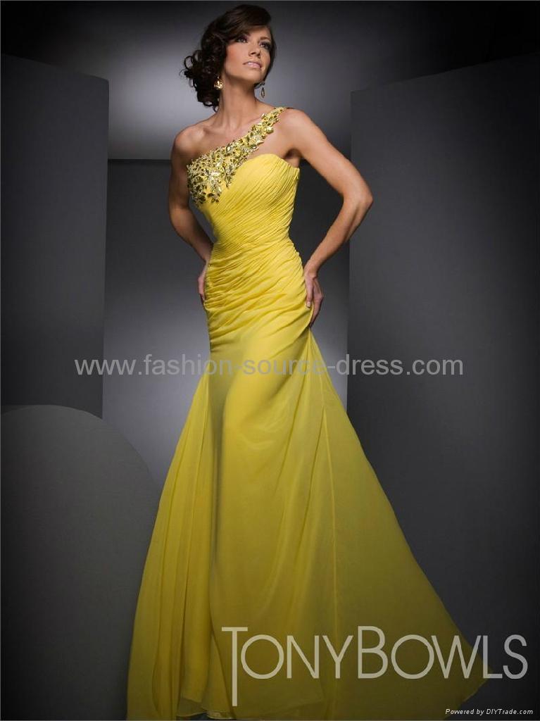 New style crystal beads chiffon bridesmaid/evening/social ...