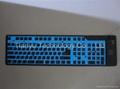109键冷光发光硅胶键盘 2