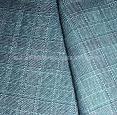 polyester/rayon stretch twill plaid yarn dyed fabric