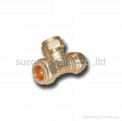 Tee Equal Compression Fitting