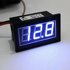 Waterproof 12V Blue LED Digital Car/Auto Voltmeter Motorcycle Battery Monitor
