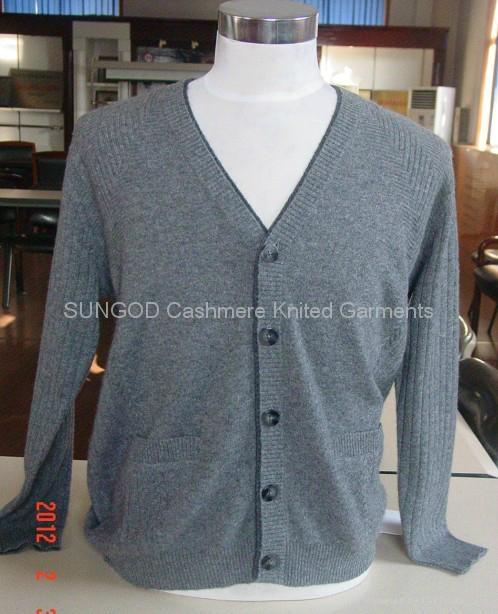 Men's cashmere button cardigans 1