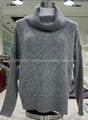 Cashmere cabled knitwear