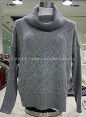 羊绒绞花针织衫