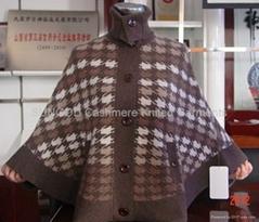 提花组织羊绒衫
