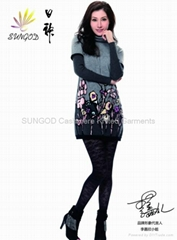 Cashmere textile printing sweater