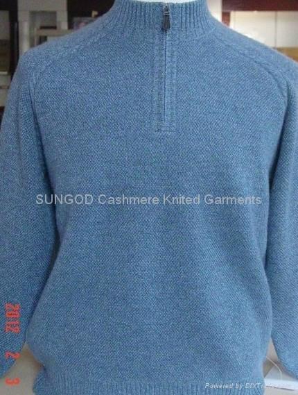 Men's cashmere zip mock sweater 1