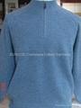 Men's cashmere zip mock sweater