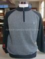 Men's cashmere zip mock sweater 2