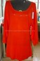 Women's red color cashmere garments 2