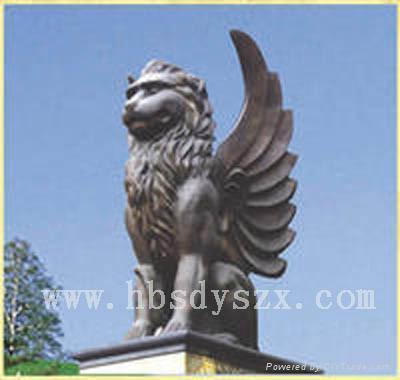 飞狮雕塑,狮子铜雕,动物雕塑