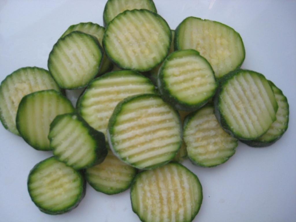 IQF green zucchini 1