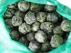 Frozen spinach ball