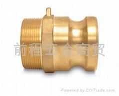 扳把式铜合金外螺纹快速接头公接F型