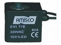 意大利AMISCO电磁阀EVI7-9引线式线圈