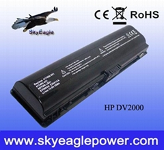 replacement laptop battery for HP DV2000