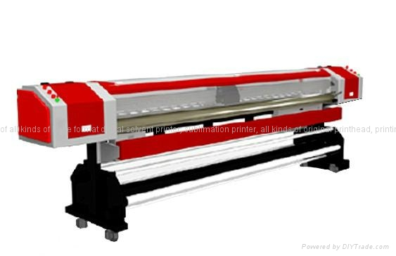 large format solvent printer with konica head