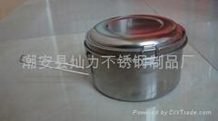 不锈钢圆形餐盒圆形饭盒