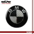 4pcs Aluminum steering wheel logo sticker for BMW Car 1