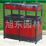 鋼木垃圾箱