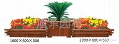 組合木質花箱