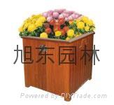 木質花箱花盆 2